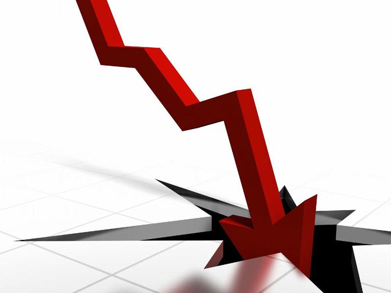Calo, perdita, recessione, finanza