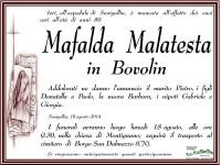 Manifesto funebre per Mafalda Malates