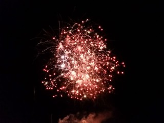 Fuochi d'artificio 2014 dalla banchina di levante di Senigallia