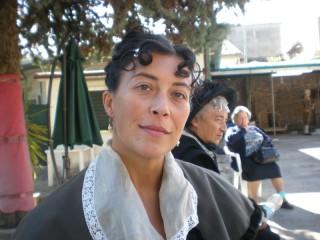 Giovanna Giambenedetti sul set di Il giovane favoloso