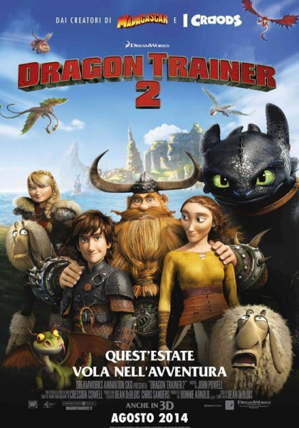 "locandina ""Dragon Trainer 2"""