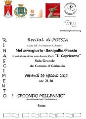 locandina recital poesie Nelversogiusto