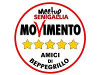"""logo del Meetup Movimento 5 stelle Senigallia """"Amici di Beppe Grillo"""""""