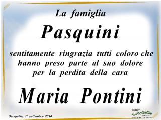 Manifesto funebre per Maria Pontini
