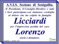 Manifesto funebre per il lutto della famiglia Licciardi