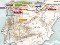 Le mappe dei vari 'caminos'
