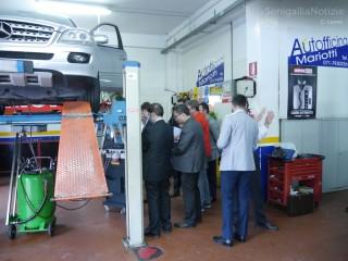 Una delegazione di tecnici dalla Russia, Singapore e Ucraina all'Autofficina Massimo Mariotti di Senigallia