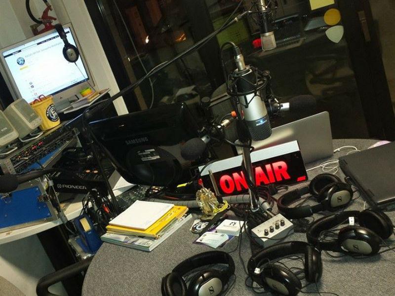 Lo studio di Radio Monk