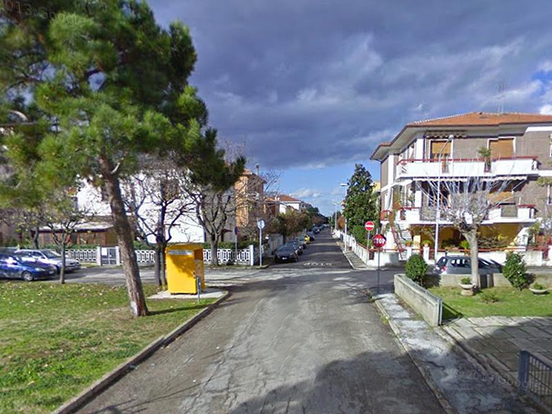 L'incrocio tra via Tiepolo, via Perugino e via Guercino, alla Cesanella di Senigallia