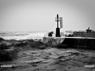 Mareggiate e vento forte: maltempo a Senigallia. Foto di Francesco Buontempi