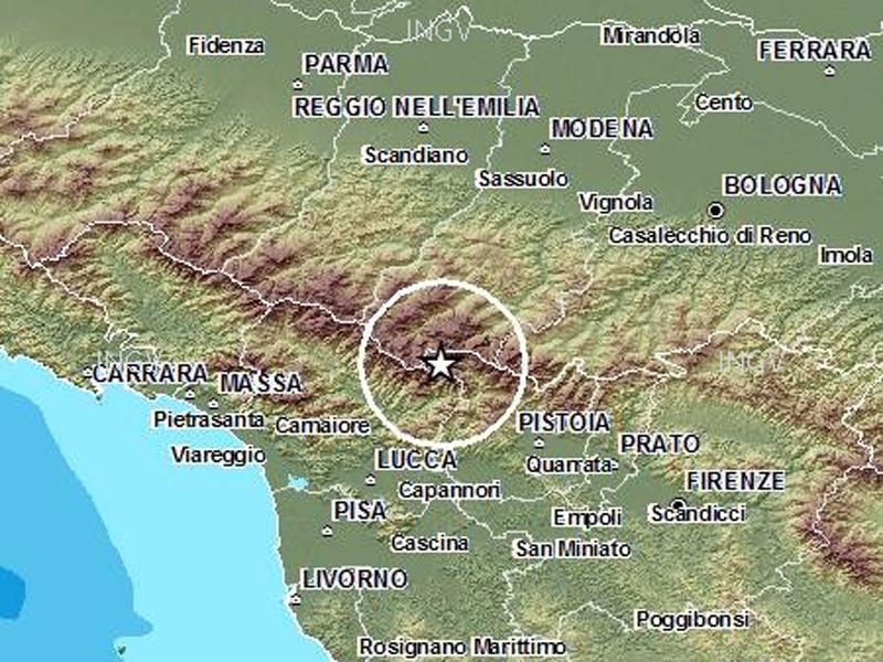 La mappa del terremoto tra Toscana ed Emilia del 7 settembre 2014