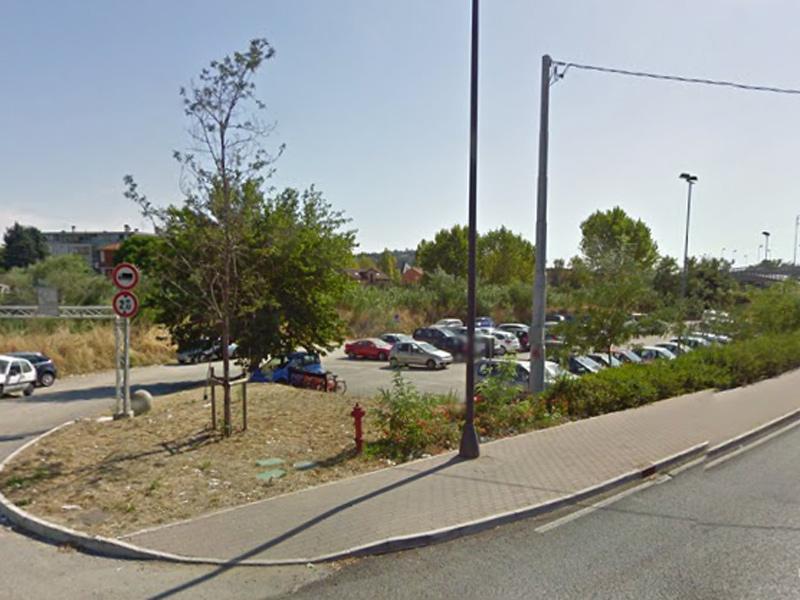 Il parcheggio di ponte Zavatti, a Senigallia