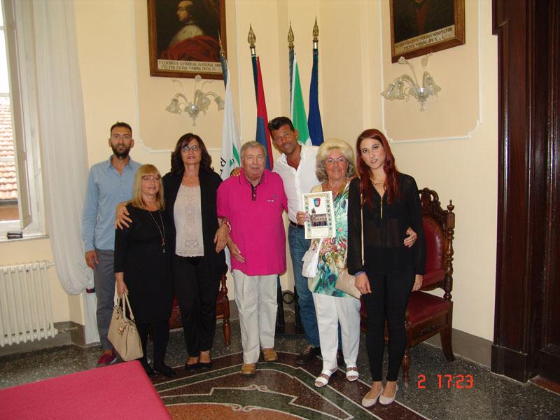 Maurizio Mangialardi con i coniugi Steinhoff