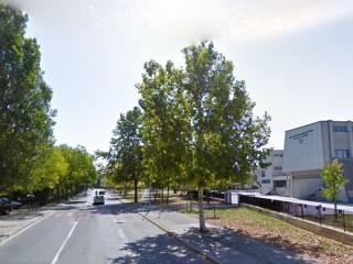 via Tommaso D'Aquino, luogo del campus scolastico di Senigallia