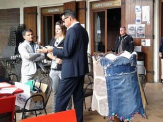 Sindaco Mangialardi alla prima tappa de Un caffè con l'Architetto al Ghinelli