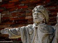 La statua di Santiago a Portomarin
