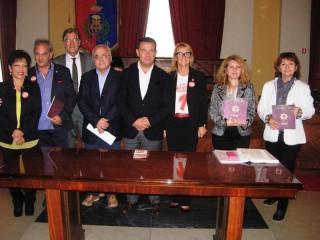 Delegazione di Alba Iulia in Comune durante il Meet Festival