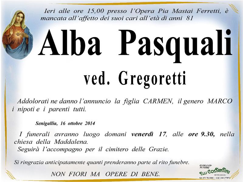 Manifesto funebre per Alba Pasquali