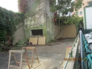 L'area delimitata nel parcheggio dell'ex arena Italia di Senigallia