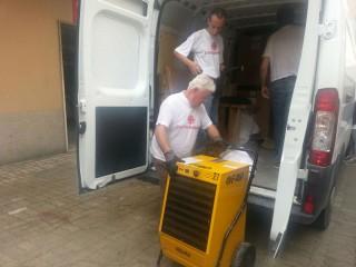 Caritas Senigallia consegna aiuti a Genova, Parma e Tortona