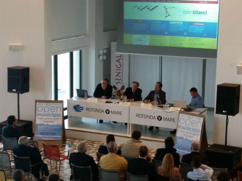 Presentazione OpenMunicipio a Senigallia: i relatori Molinari, Cartocci, Alvino, Scaloni
