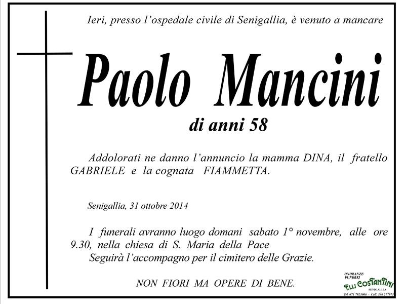 Favorito La famiglia Mancini in lutto per la morte del caro Paolo  EG76