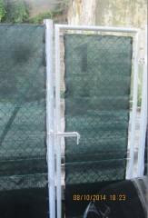 La recinzione al parcheggio dell'ex arena Italia, a Senigallia