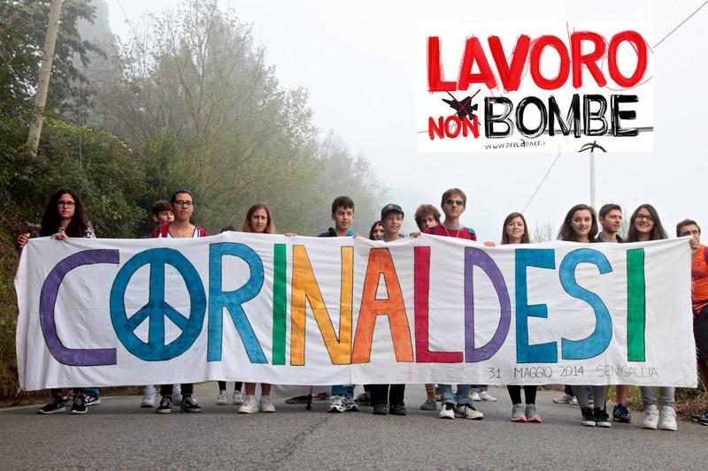 I ragazzi dell'ITCG Corinaldesi alla Marcia della Pace Perugia-Assisi 2014