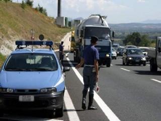 Controlli della Polizia Autostradale