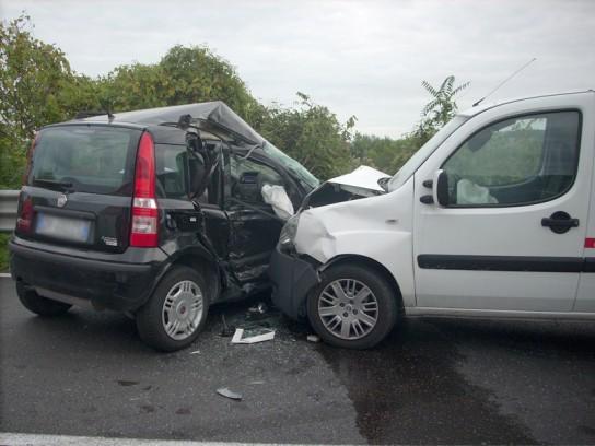 l'incidente avvenuto nella mattinata di martedì 21 ottobre lungo la s.p. Corinaldese alla Cannella di Senigallia