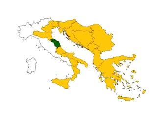 La mappa della Macroregione Adriatico-Ionica