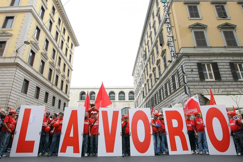 manifestazione della Cgil per il lavoro