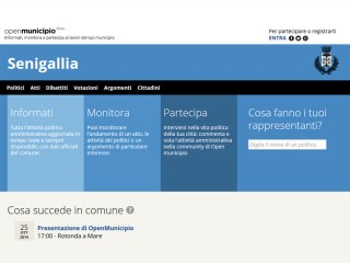 screenshot del sito web senigallia.openmunicipio.it