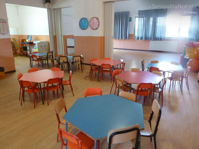 La scuola a Borgo Bicchia di Senigallia risistemata dopo l'alluvione del 3 maggio