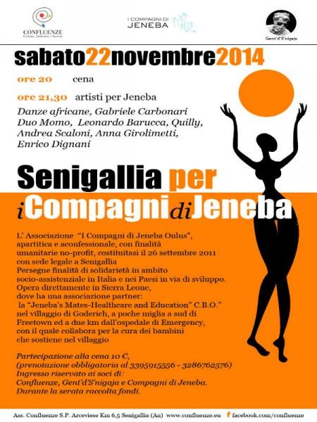 """Senigallia per Jeneba"", serata solidale"
