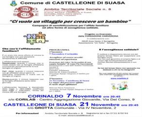 Incontri sull'affido familiare a Corinaldo e Castelleone di Suasa