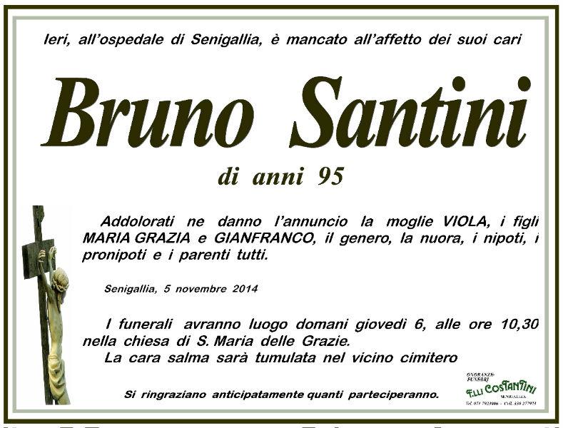 Bruno Santini, necrologio