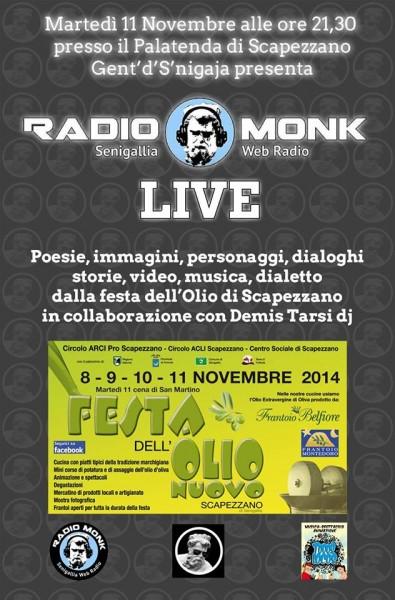 Gent'd'S'nigaja e Radio Monk alla Festa dell'Olio Nuovo 2014