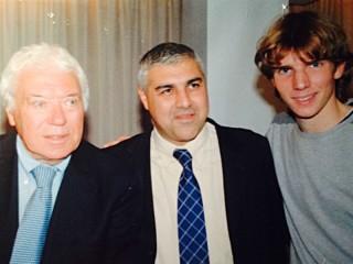 Gennaro Campanile ed Edoardo Diamantini con Nicola Pietrangeli