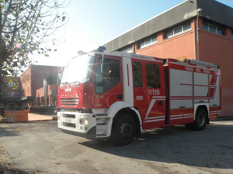 Sopralluogo dei Vigili del fuoco al liceo Perticari di Senigallia