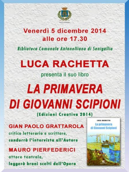 """""""La primavera di Giovanni Scipioni"""", locandina presentazione"""