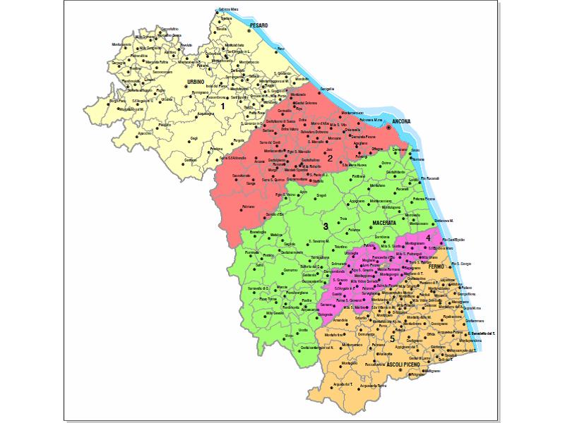 Marche Cartina Province.Province Marche Senigallia Notizie