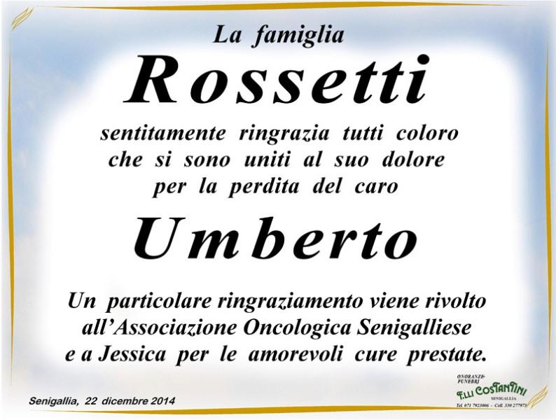 Manifesto funebre per Umberto Rossetti