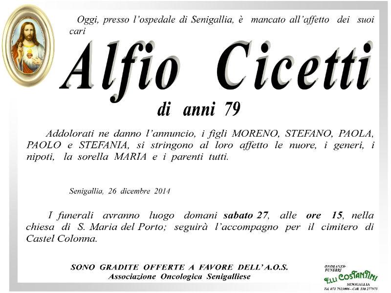 Necrologio Alfio Cicetti