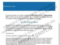 Virus Cryptlocker: esempio di finta e-mail