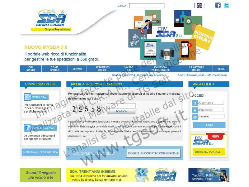 Virus Cryptlocker: esempio di finta pagina web