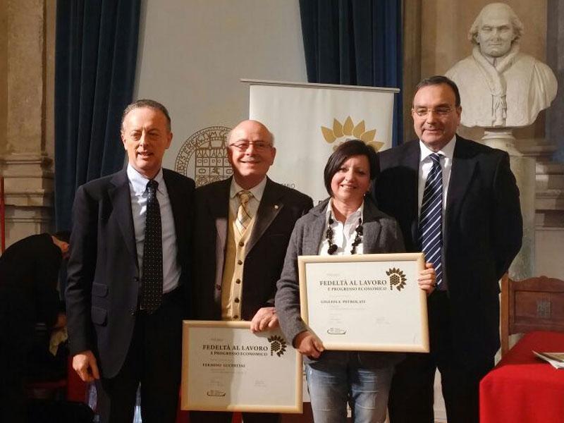 Premio Fedeltà al Lavoro: due riconoscimenti alla Lucertini Arredamenti