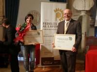 Gigliola Petrolati e Fermino Lucertini: i premiati della Lucertini Arredamenti