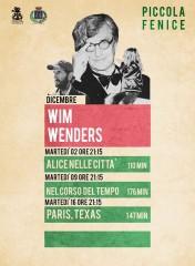 La locandina della rassegna dedicata al regista Wim Wenders