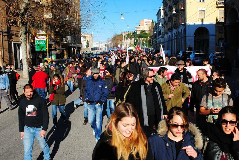 Lo sciopero di Ancona del 12 dicembre